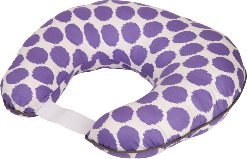 Bacati Cotton Geometric Print Feeding/Nursing Pillow Pack of 1(Purple)
