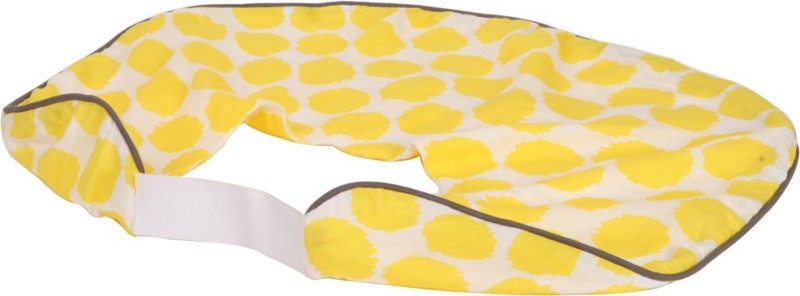 Bacati Cotton Geometric Print Feeding/Nursing Pillow Pack of 1(Yellow)