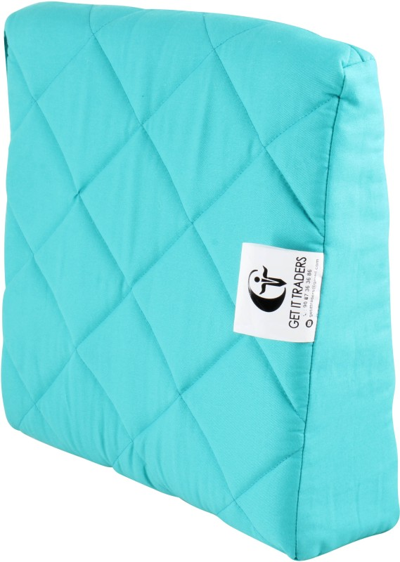 Get IT PU Foam Diamond Quilt Pregnancy Pillow Pack of 1(Blue)