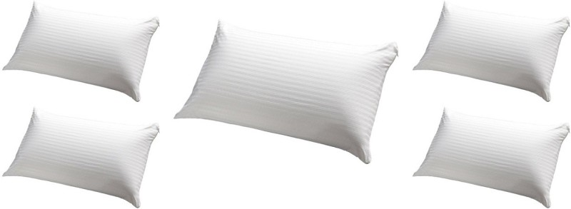 JDX Striped Bed/Sleeping Pillow Pack of 5(White)