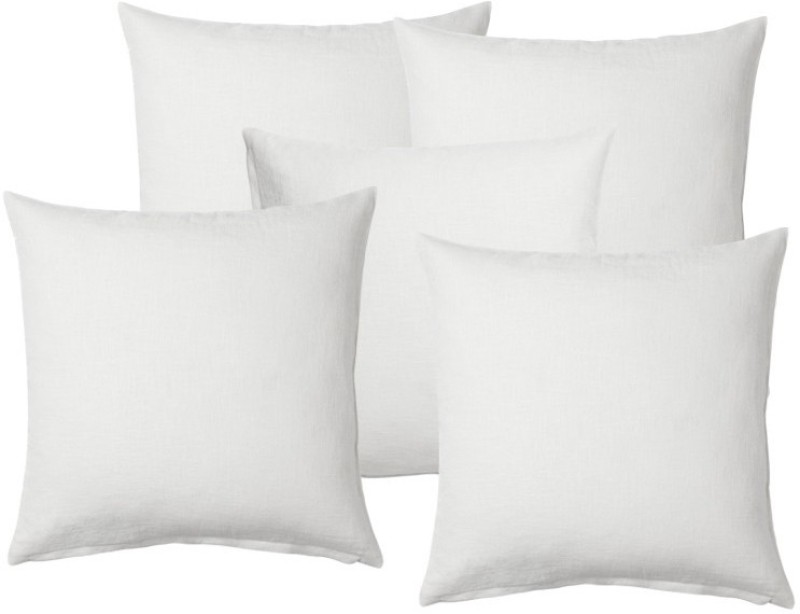 JDX Solid Chair Cushion Pack of 5(White)