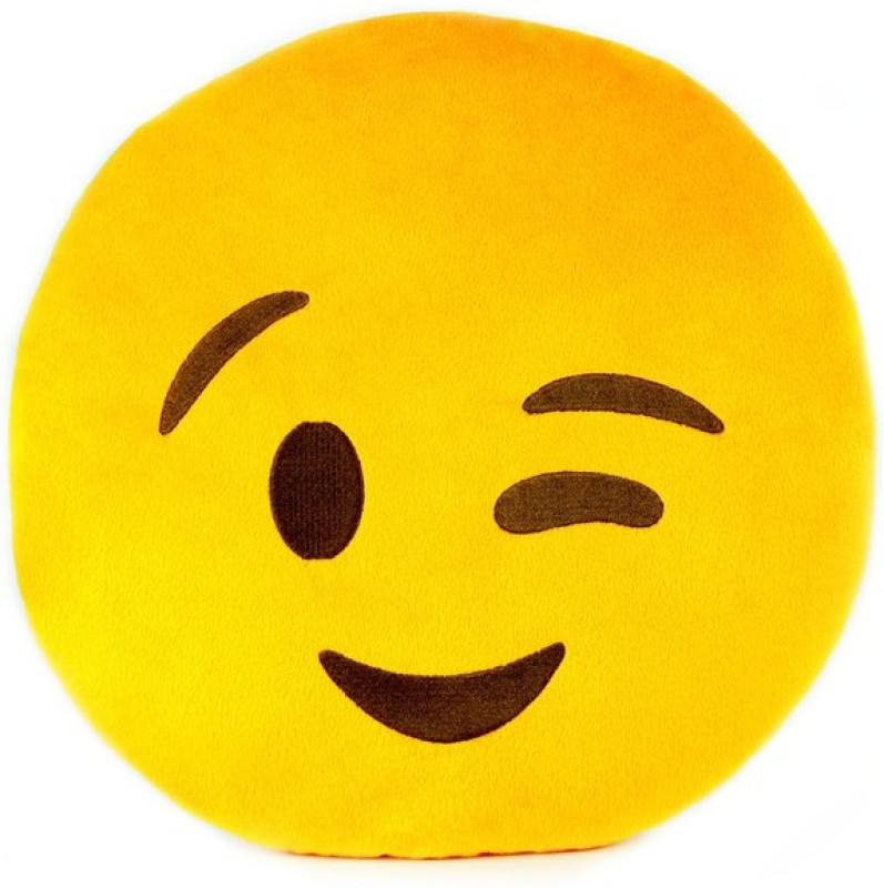 Gadget Paradise Facial Expression Decorative Cushion Pack of 1(Yellow)