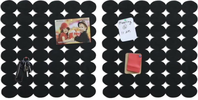 Marine Pearl Oval 1.5 x 1.5 Ft Pack of 2 Pin Board Notice Board Bulletin Board(Black)