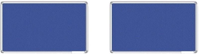 Bansal Paper Industries 1.5x2 Feet Light Weight Notice Pack of Two Cork Bulletin Board(Blue)