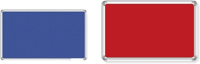 Bansal Paper Industries 1.5x2 Feet Light Weight Notice Pack of Two Cork Bulletin Board(Blue, Red)