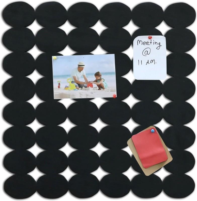 Marine Pearl Oval 1.5 x 1.5 Ft Pin Board Notice Board Bulletin Board(Black)