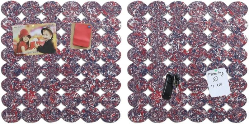 Marine Pearl Oval 1.5 x 1.5 Ft Pack of 2 Pin Board Notice Board Bulletin Board(Multi)