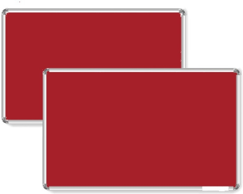 Bansal Paper Industries 1.5x2 Feet Light Weight Notice Pack of Two Cork Bulletin Board(Red)