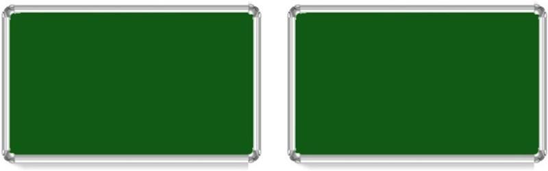 Bansal Paper Industries 1.5x2 Feet Light Weight Notice Pack of Two Cork Bulletin Board(Green)