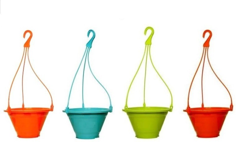 Truphe Garden Hanging Flower Pot, Hanging Pot (Pack of 4) Plant Container...