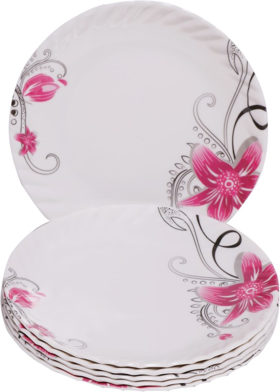 Sony Crazy Snacks Floral Trendy Design Half Plate Plate Set(6 Units)