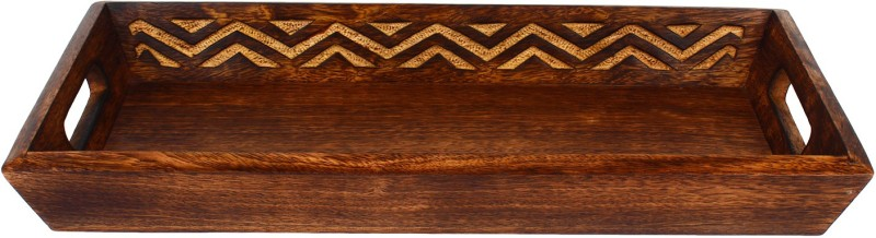 The Decor Mart Natural wooden Tray Tray
