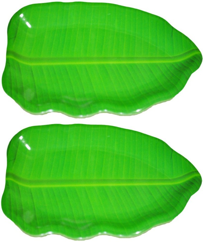Hua You Melamine Banana Leaf - 16 inch. Tray Set(2 Units)