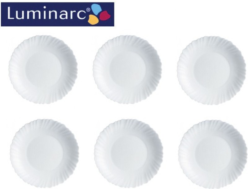LUMINARC Feston White -19 Cm Plate Set(6 Units)