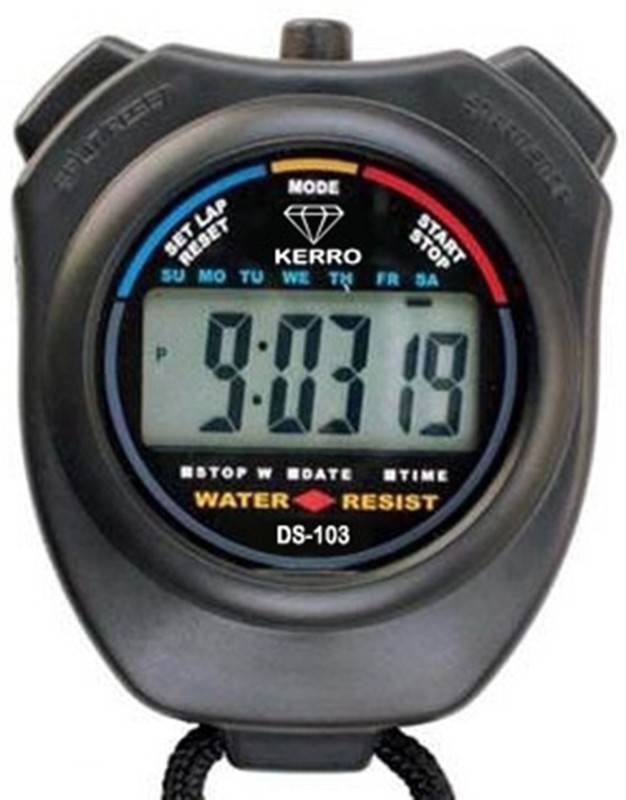 Kerro DS-103 Digital Sports Stopwatch(Black)