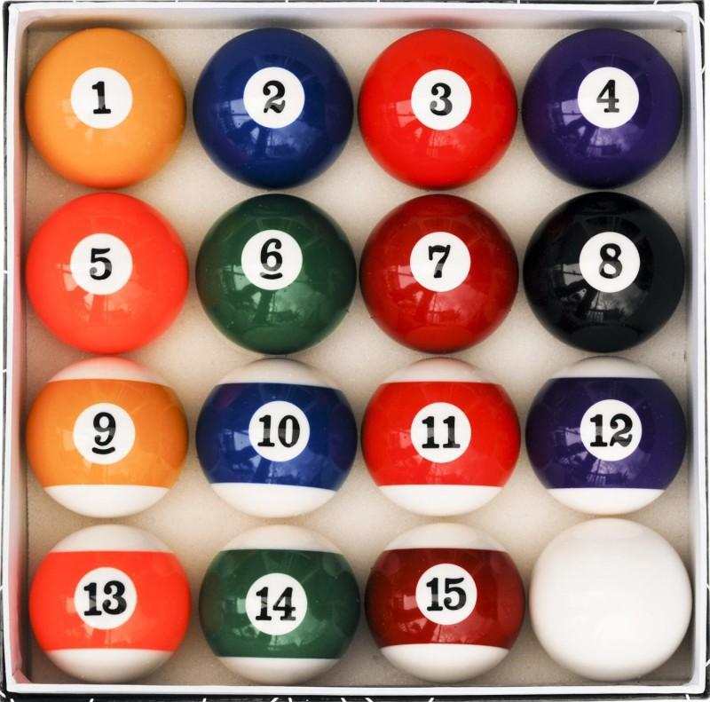 Play City billiard balls Billiard Ball(Pack of 16, Multicolor)