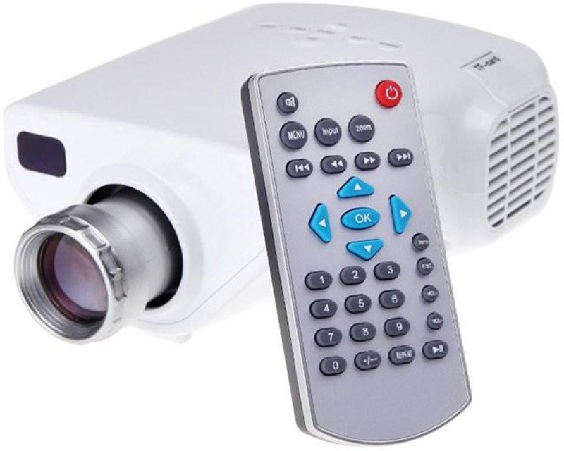 JSWE 2100 lm LED Corded & Cordless Portable Projector(White)