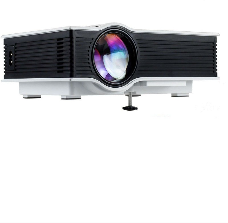 Shrih 1200 lm LED Corded & Cordless Portable Projector(White)