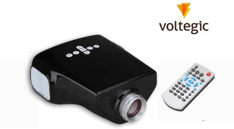 Voltegic  Proyector MINI E03 Home Education USB/VGA/AV/TV/HDMI 50 lm LED Corded Portable Projector(Black) image