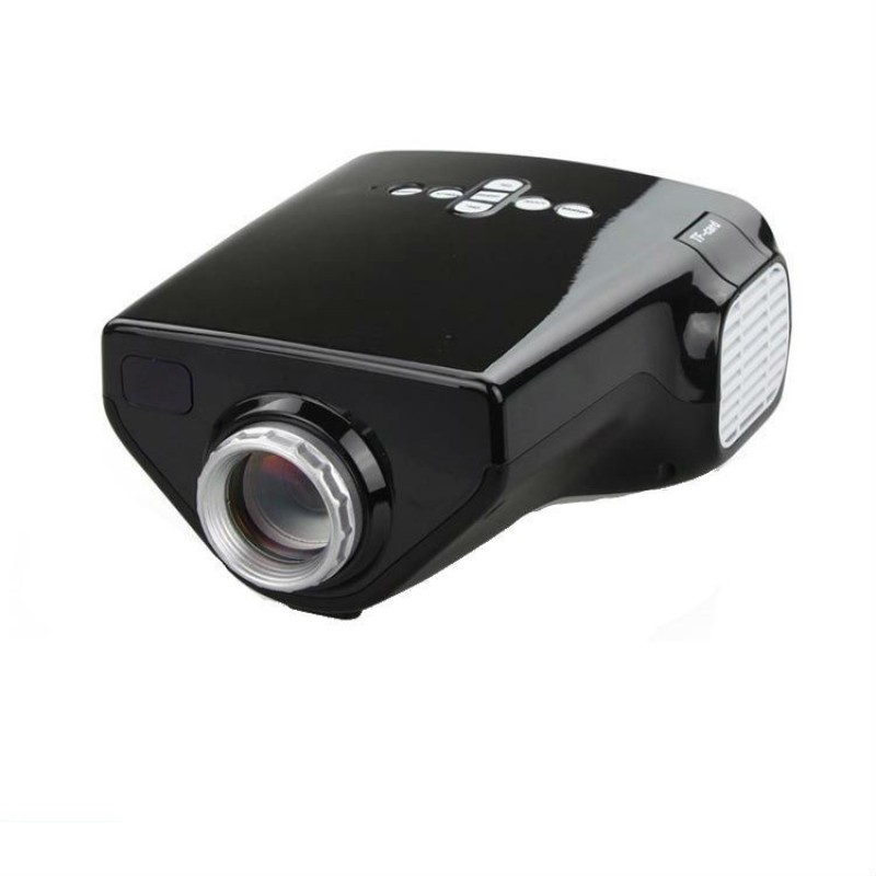 Shrih 50 lm LCD Corded & Cordless Portable Projector(Black)