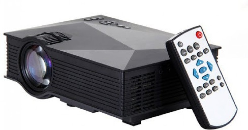 MDI 1200 lm LCD Corded Mobiles Portable Projector(Black) image