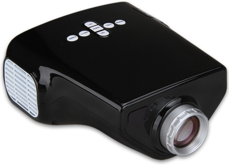 Shrih Multimedia 50 lm LED Corded Portable Projector(Black) image