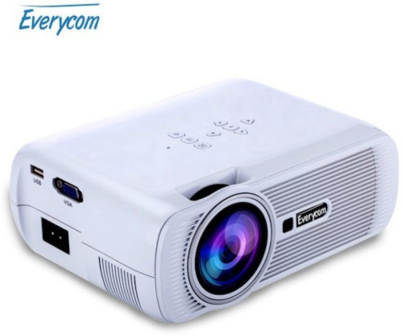 Everycom Everycom-x7 1800 lm LED Corded Portable Projector(White) image