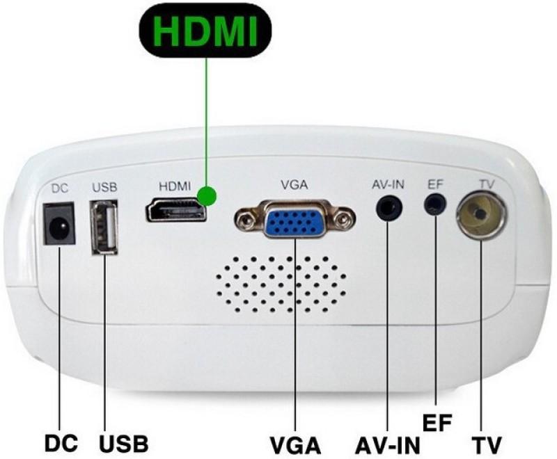 Voltegic  E03 Mini Home Theater USB/VGA/HD/AV/ATV/TF-card 320*240 LED Proyector LCD Projetor 50 lm LED Corded Portable Projector(White) image