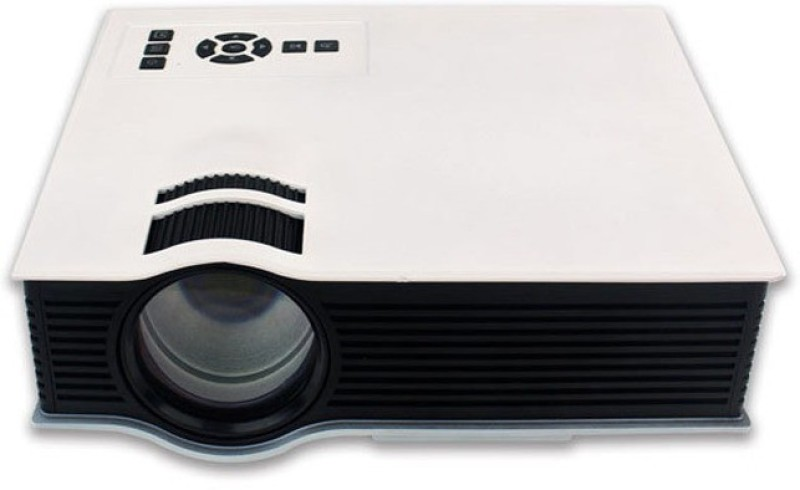 Shrih Mini 800 lm LED Corded Portable Projector(White) image