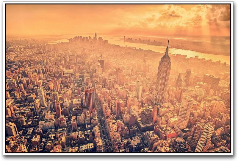 New York City Paper Print(12 inch X 18 inch)