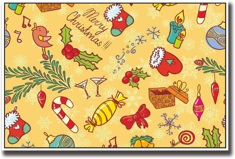 Christmas candies Fine Art Print(12 inch X 18 inch, Rolled)
