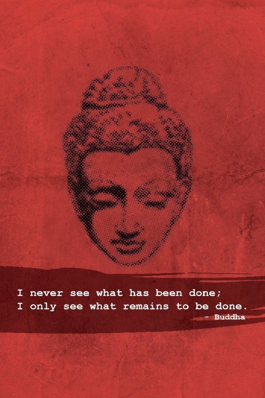 Athah Poster Buddha What Remains to be Done Paper Print(18 inch X 12 inch, Rolled)