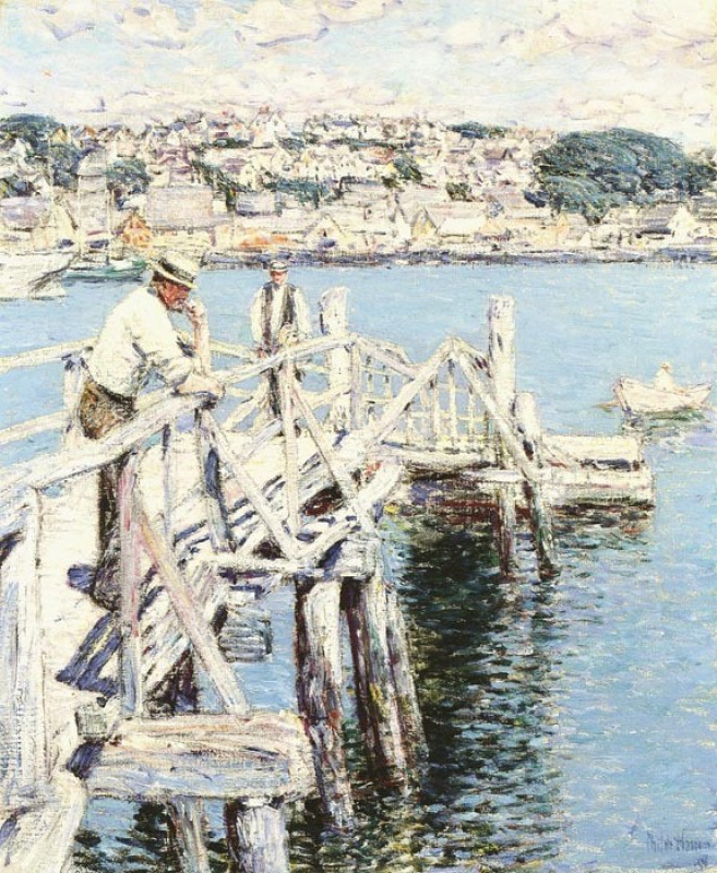 The Museum Outlet Dock Scene, Gloucester, 1896 (Medium) Paper Print(24 inch X 18 inch, Rolled)