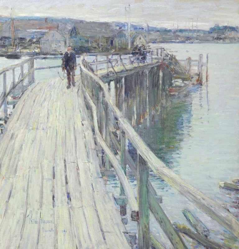 The Museum Outlet Dock Scene, Gloucester, 1894 (Medium) Canvas Painting(24 inch x 18 inch)