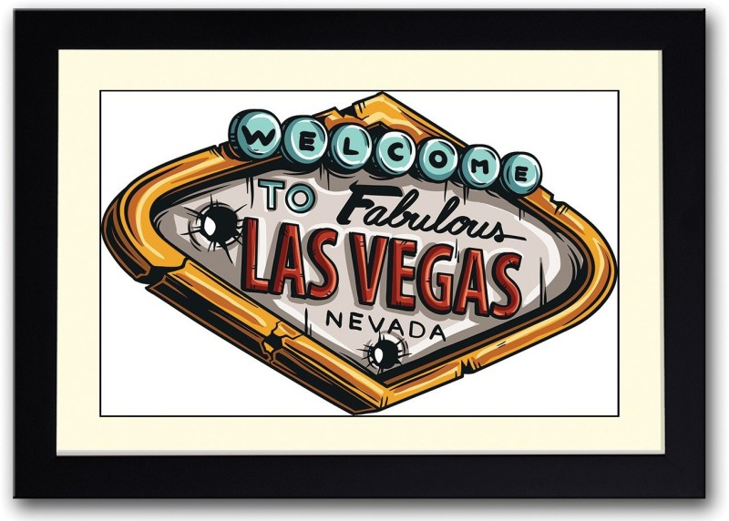 Las Vegas Fine Art Print(14 inch X 20 inch, Framed)