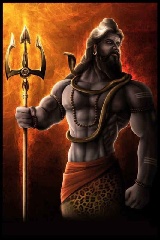 Athah Religious Poster Lord Shiva Paper Print(18 inch X 12 inch, Rolled)