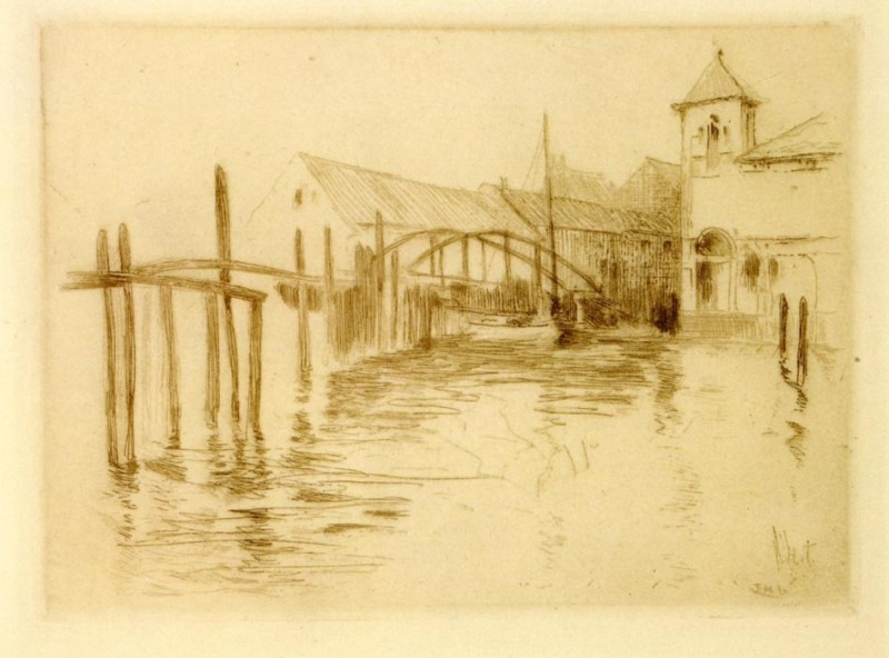 The Museum Outlet Dock at Newport, 1889 (Medium) Canvas Painting(24 inch x 18 inch)