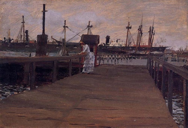 The Museum Outlet Woman on a Dock, 1886 (Medium) Paper Print(24 inch X 18 inch, Rolled)