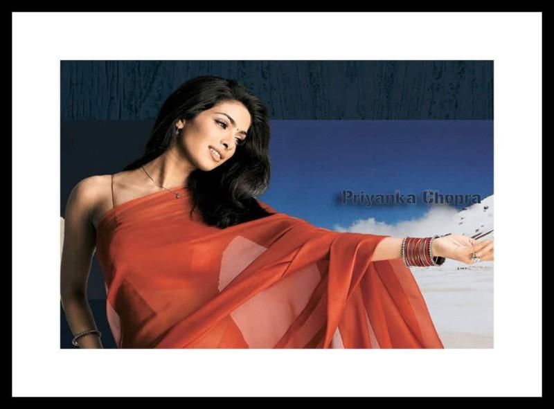 Myimage Priyanka Chopra in Saree Digital Printing Framed Poster (13.0 inch x...