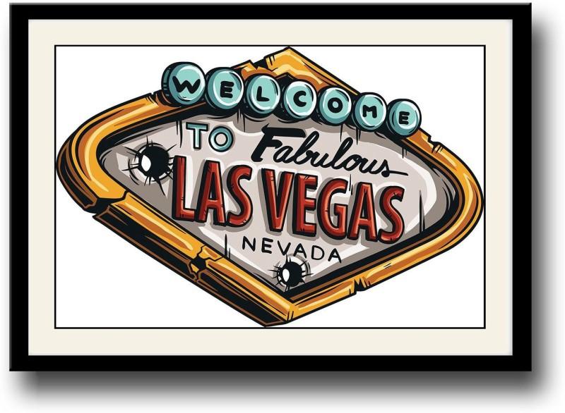 Las Vegas Fine Art Print(10 inch X 14 inch, Framed)