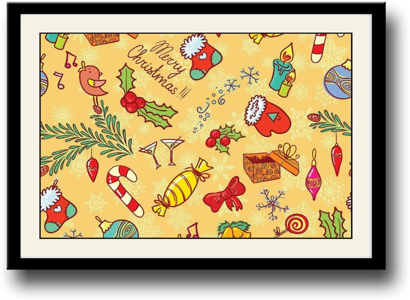 Christmas candies Fine Art Print(10 inch X 14 inch, Framed)
