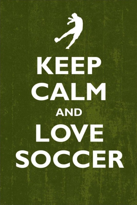 Posterhouzz- Keep Calm And Love Soccer Fine Art Print(18 inch X 12 inch, Rolled)