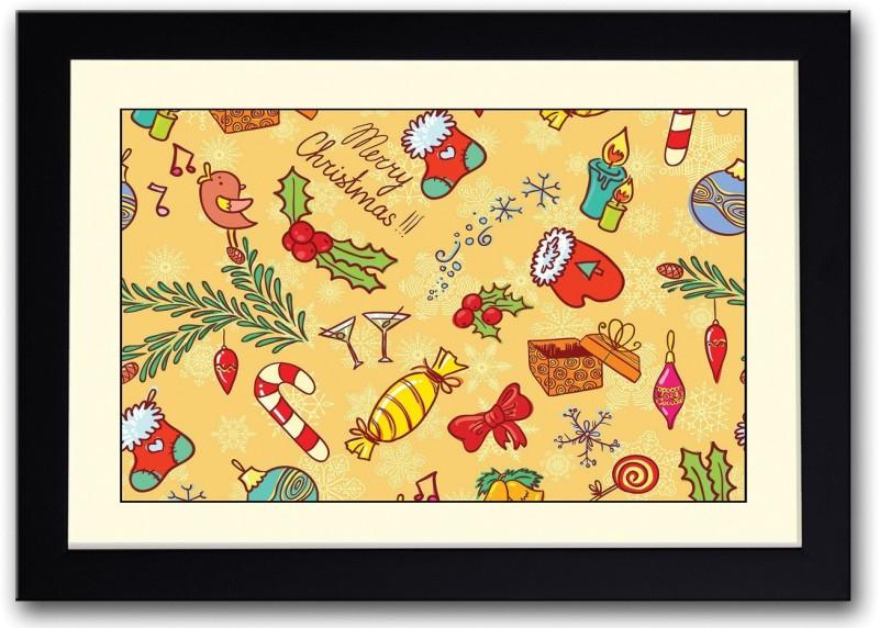 Christmas Candies Fine Art Print(14 inch X 20 inch, Framed)