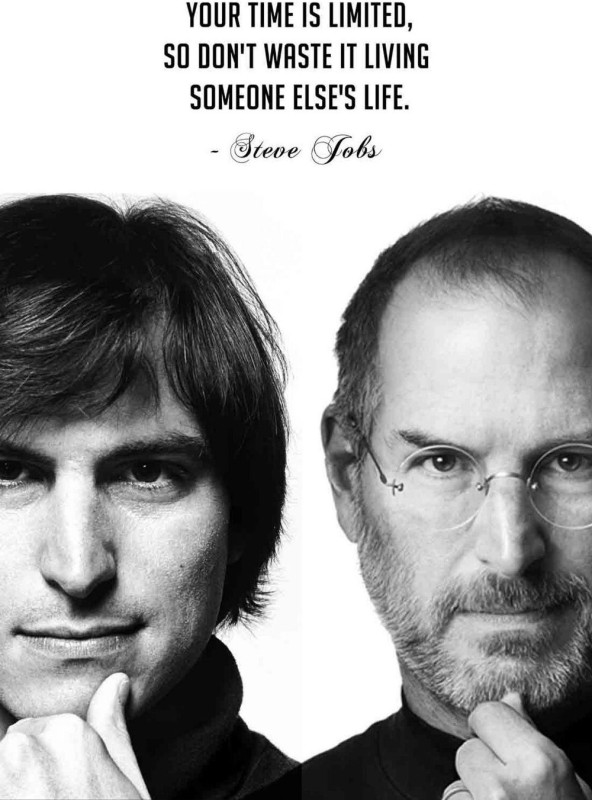 Posterhouzz- Steve Jobs - Time Is Limited Fine Art Print(18 inch X 12 inch, Rolled)