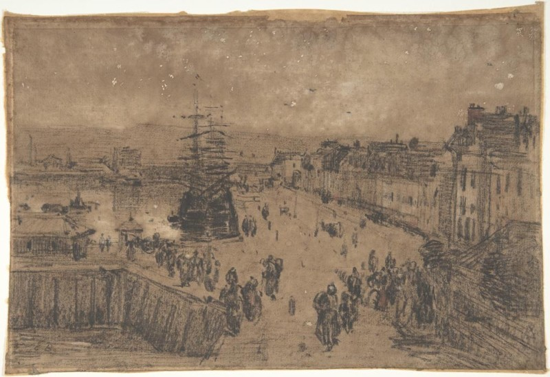 The Museum Outlet - The Dock of Deauville, 1891 - A3 Poster Paper Print(16.54 inch X 11.69 inch, Rolled)