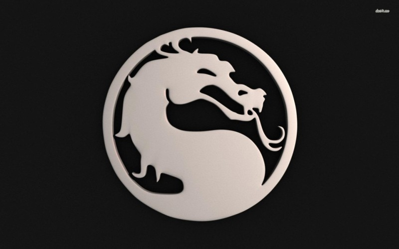 Mortal Kombat Dragon Logo Athah Fine Quality Poster Paper Print(12 inch X 18 inch, Rolled)
