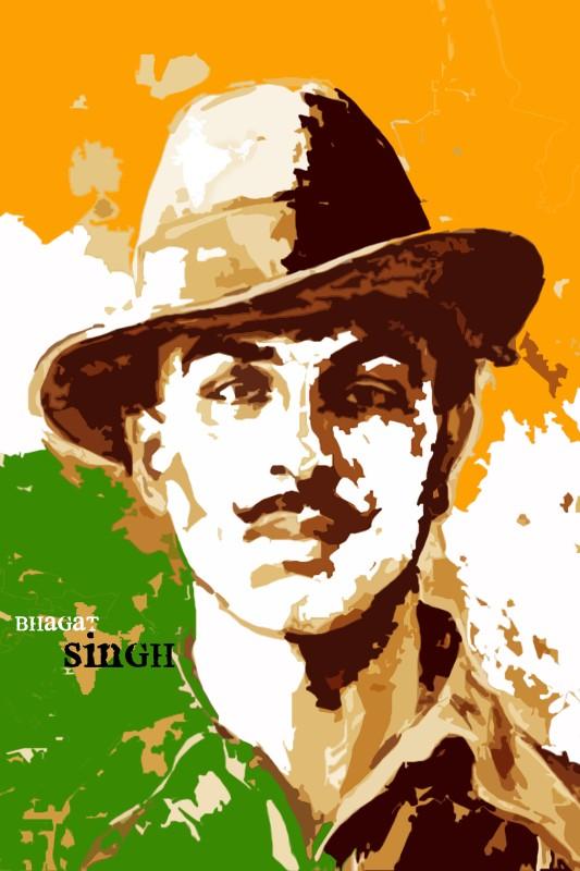 Posterhouzz- Bhagat Singh Fine Art Print(18 inch X 12 inch, Rolled)