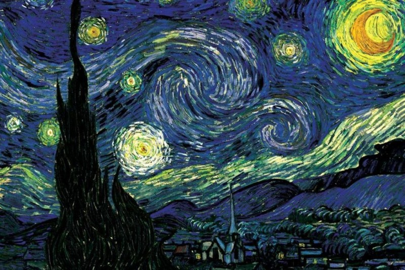 Athah Poster Starry Night by Vincent van Gogh Paper Print(12 inch X 18 inch, Rolled)