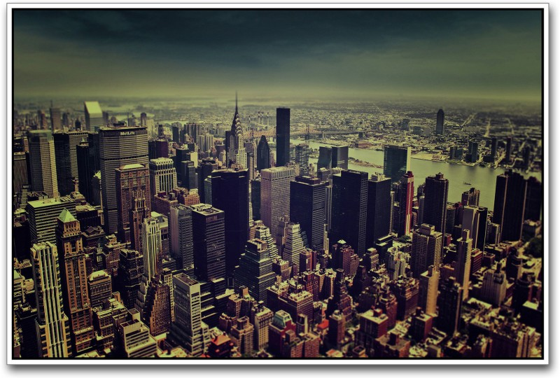 New york City Aerial Paper Print(12 inch X 18 inch)