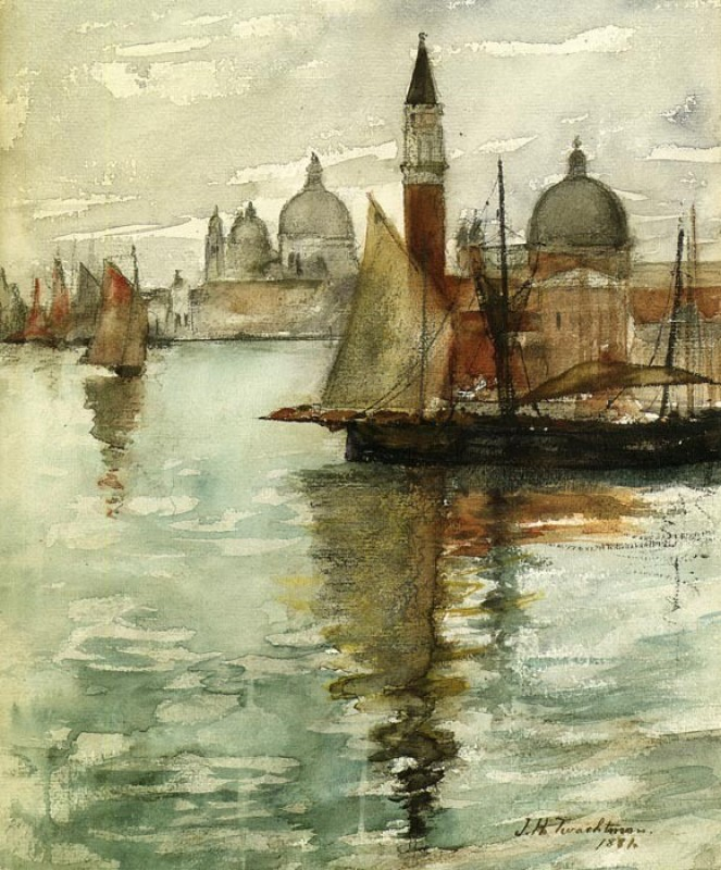 The Museum Outlet - Ship and Dock, Venice, 1878 - A3 Poster Paper Print(16.54 inch X 11.69 inch, Rolled)
